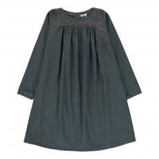 Robe Chambray Brodée Marianne Bleu jean