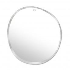 Miroir extra plat biseauté - forme aléatoire ronde 47x50 cm Naturel
