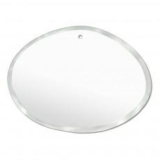 Miroir extra plat biseauté - forme aléatoire  ovale horizontale 55x40 cm Naturel