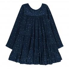 Robe Volantée Etoiles Almeria Bleu