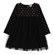 Robe Etoiles Tulle Grazia Noir