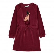 Robe Lapin Velours Bio Bordeaux