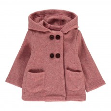 Manteau Laine Rose