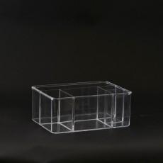 Boîte de rangement 5 cases Transparent