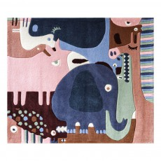 Tapis puzzle animals Multicolore