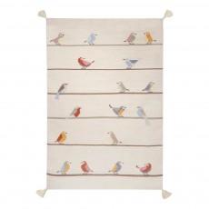 Tapis kilim birds en laine Multicolore