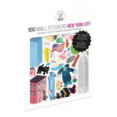 Planche de stickers muraux New York City  - 100 stickers Multicolore