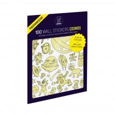Planche de stickers phosphorescent Cosmos  - 100 stickers Phosphorescent
