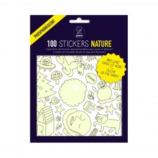 Planche de stickers phosphorescent Nature  - 100 stickers Phosphorescent