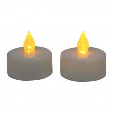 Bougies chauffe-plat LED - Set de 2 Blanc