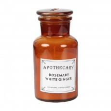 Bougie apothicaire romarin et gingembre blanc 200g Naturel