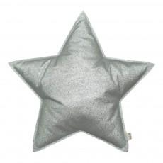 Coussin étoile glitter Argenté