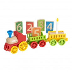 Train d'anniversaire Multicolore