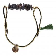 Bracelet Elastique Réglable Pompon Helga Gris