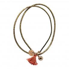 Bracelet Elastique Pompon Helga Doré