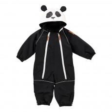 Pilote Double Zip Capuche Panda Noir