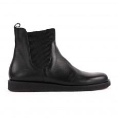 Boots Cuir Grainé Chelsea Aragon Noir