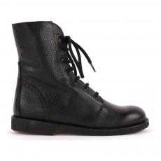 Boots Cuir Fourrées et Zippées Kentuky Noir