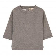 T-shirt Double Jersey Boutonné Dos Nummite Gris chiné