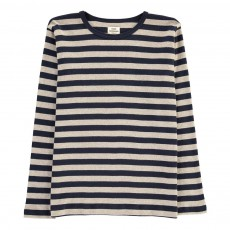 T-shirt Rayé Tobino Bleu marine
