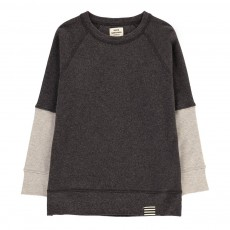 Sweat Manches Bicolores Steltino Gris anthracite