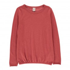 Pull Laine Bicolore Etoiles May Vieux Rose