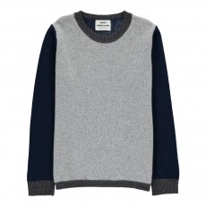 Pull Tricolore Laine Kennyno Gris chiné clair
