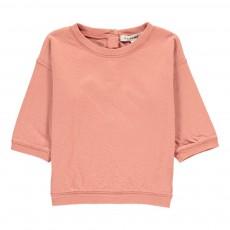 T-shirt Double Jersey Boutonné Dos Nummite Vieux Rose