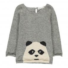 Exclusivité Œuf x Smallable Pull Alpaga Panda Gris