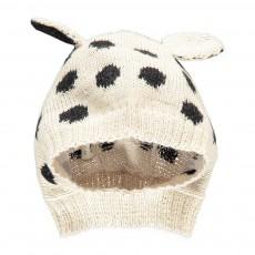 Exclusivité Œuf x Smallable Cagoule Baby Alpaga Dalmatien Ecru