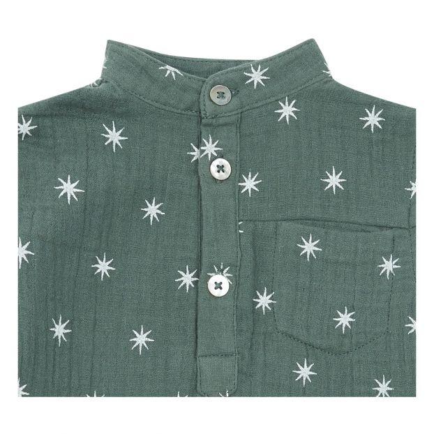 promo code 65684 d43b5 Hemd Northern Star Mason aus Baumwollkrepp Smaragdgrün Rylee +