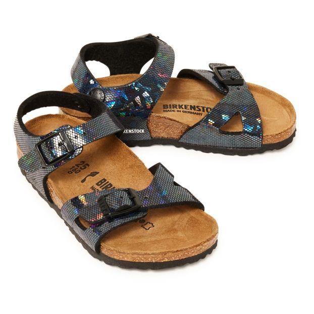 9132ac0f431e1c Sandale Nubuck Rio Noir Birkenstock Chaussure Enfant