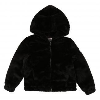 aab9af0490e1 Zadig & Voltaire Faux Fur Hooded Jacket-listing
