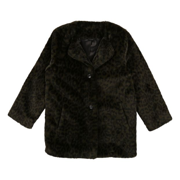 huge discount 0b2d8 ea500 Giacca con pelliccia sintetica Verde militare