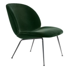 product-Gubi Fauteuil lounge Beetle rembourré base Conic, GamFratesi, 2013, Noir/Velours