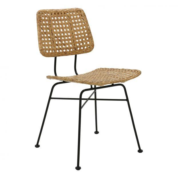 Rattan Desk Chair Natural Hkliving