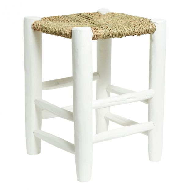Terrific Wooden Stool 45Cm White Gmtry Best Dining Table And Chair Ideas Images Gmtryco