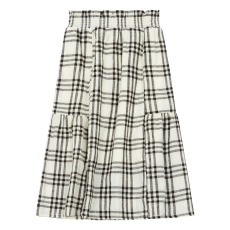 product-Rylee + Cru Janise Linen Check Skirt