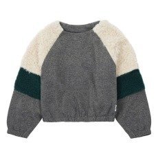 product-AO76 Lurex Sleeve Sherpa Sweatshirt