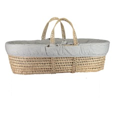 product-Camomile London Striped Reversible Moses Basket - 4 piece set