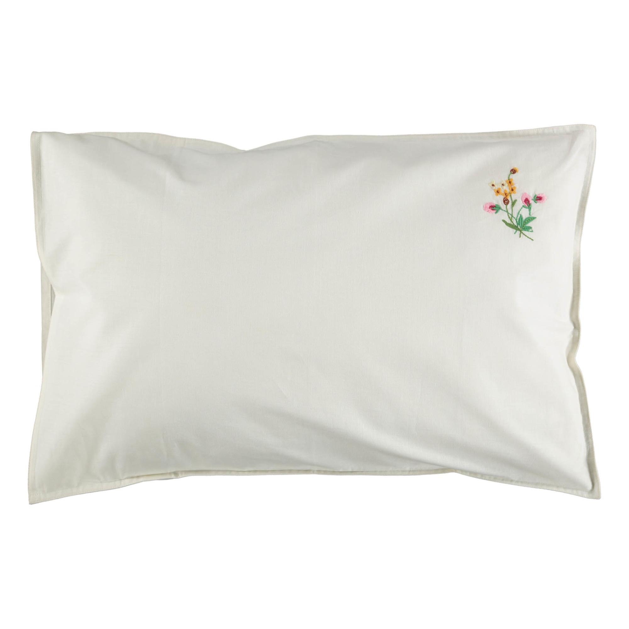 White Floral Pillow Case