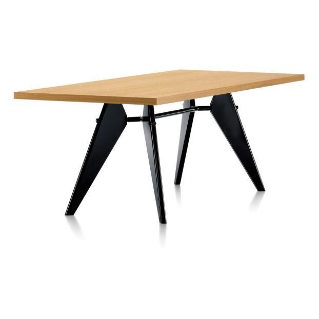 Table Vitra NoirJean Chêne Design EmPiètement Prouvé1950 Yf6Ib7ygv