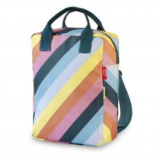 7bb42ed2f4 Engel Grande zaino a righe arcobaelno in plastica riciclata-listing