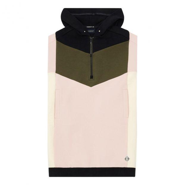 06bf560d7 Fleece Colour Block Hooded Dress Pink