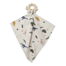 product-Liewood Dino Organic Cotton & Wood Teething Ring