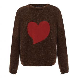 d0e92a4aecc Heart Intarsia Jumper Brown