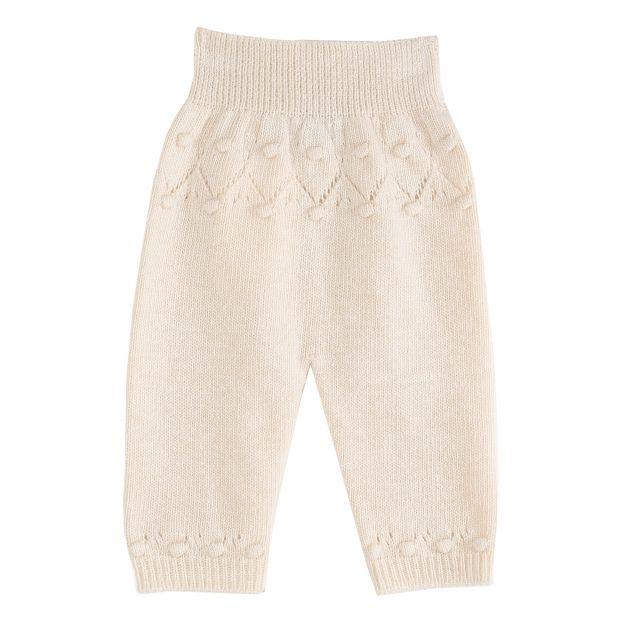 on sale a157e 62758 Pantaloni di lana e cachemire Ecru