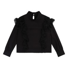 product-Zadig & Voltaire Lace Ruffled Blouse