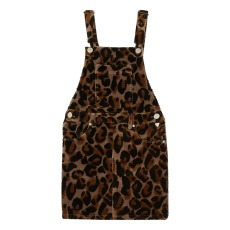 product-Scotch & Soda Corduroy Leopard Print Dress