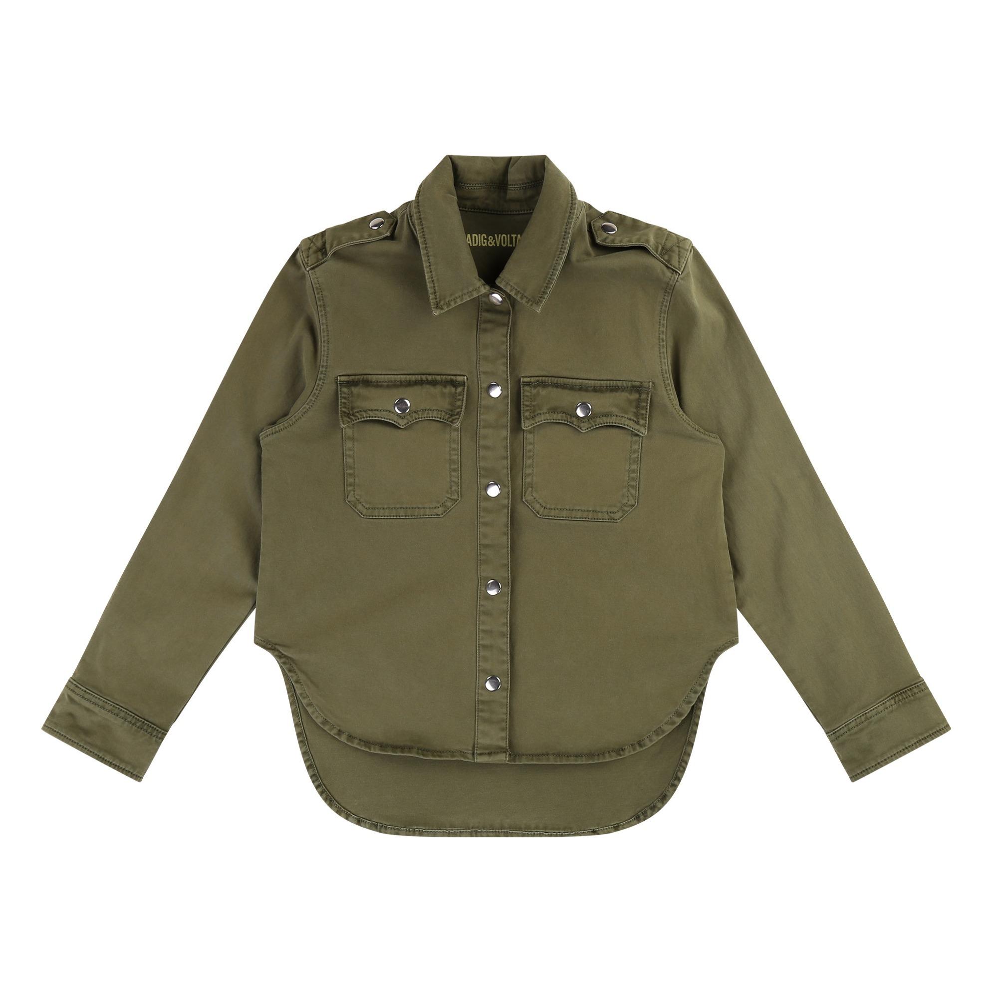 nouveau concept 3677a 99d9a Sur-chemise Vert kaki Zadig & Voltaire Mode Adolescent , Enfant